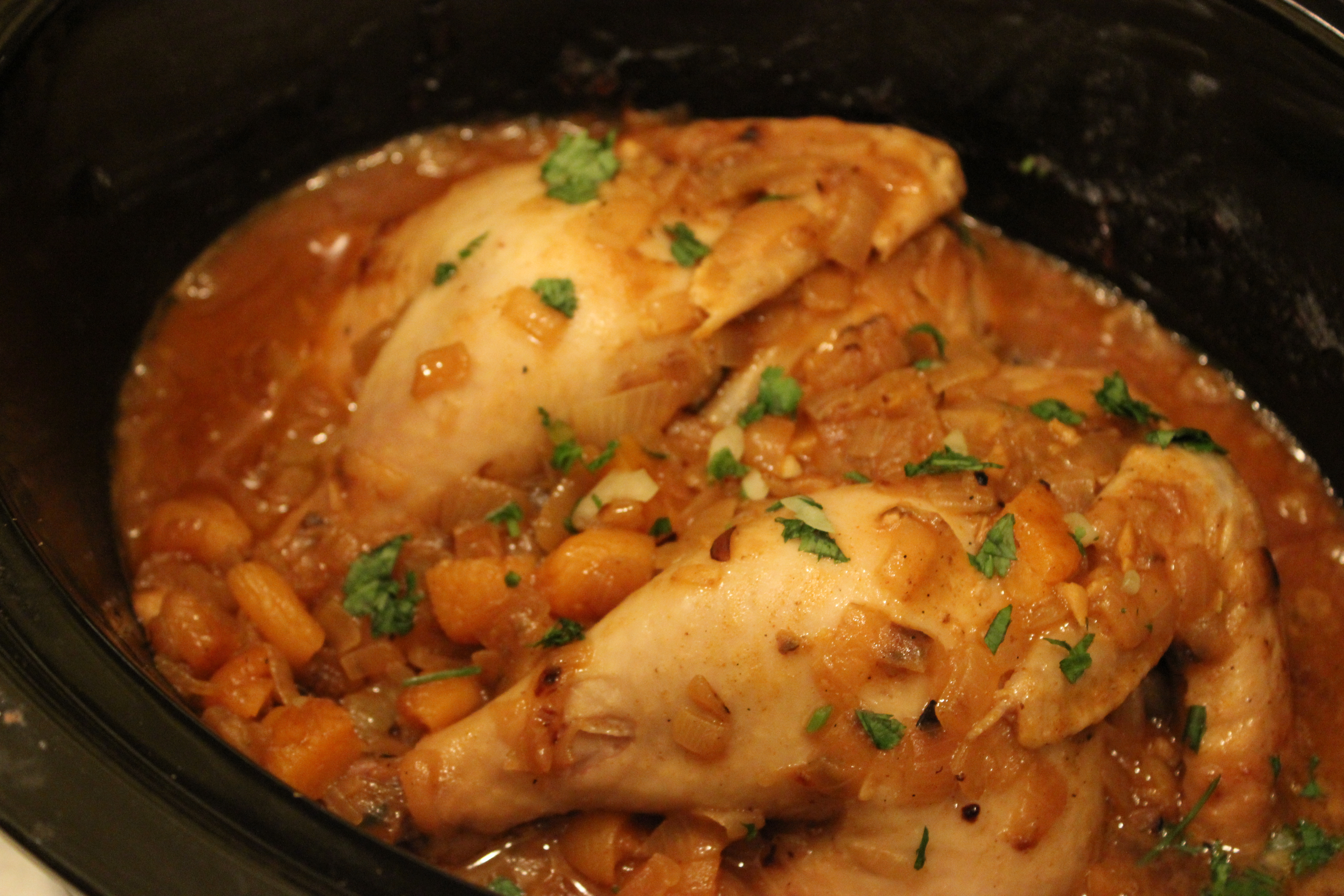 Slow cooked moroccan chicken with apricots and almonds from michele we forumfinder Choice Image