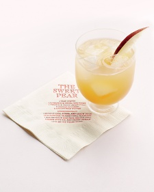 Pear Nectar Cocktail with Bourbon and Sage