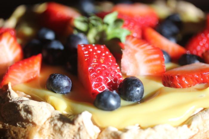 Honey Custard and Berry Dessert