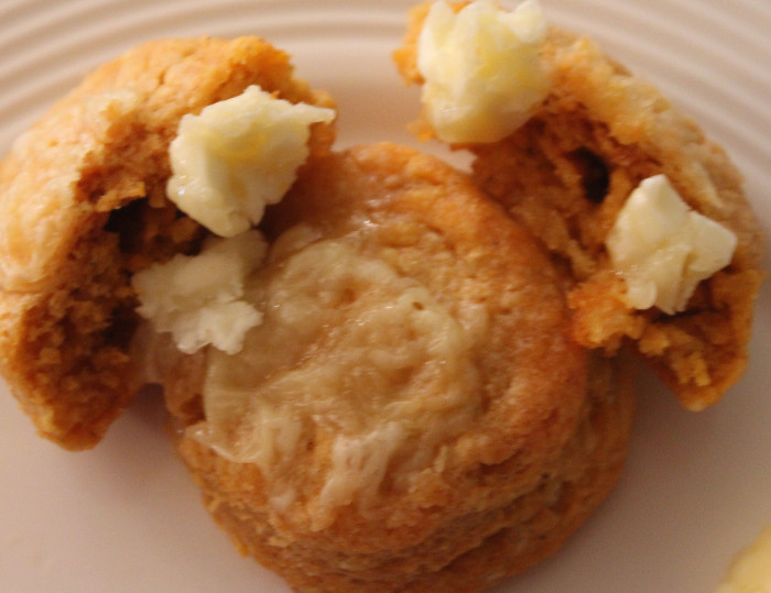 Chipotle and Cheddar Biscuits with Honey Butter from Gale Gand
