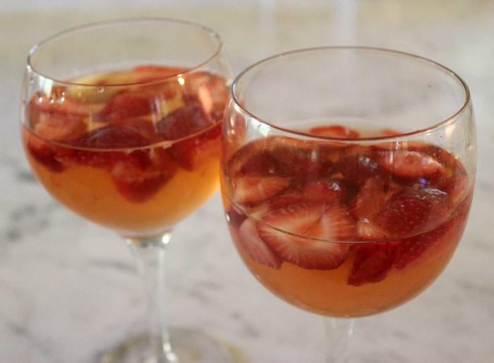 Brian's Strawberry and Plum Sangria