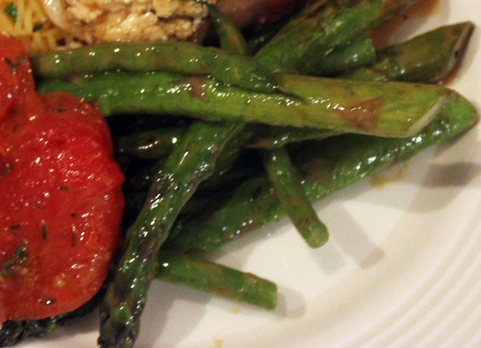 Green Bean and Asparagus Salad with Roasted Garlic and Garlic Vinaigrette