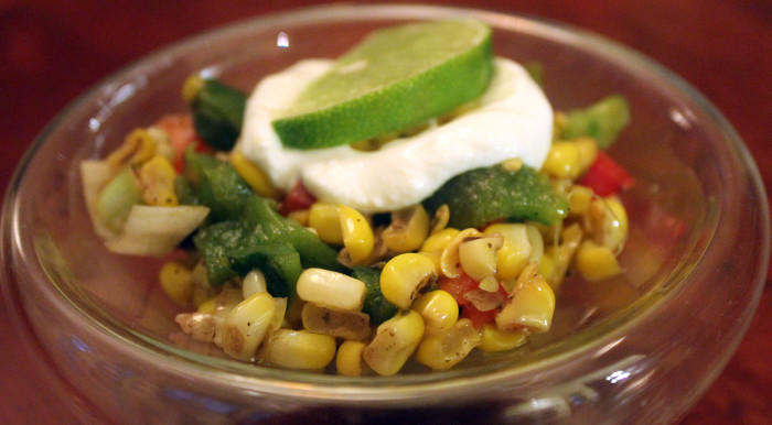 Esquites: Sauteed Corn Kernels with Lime Juice, Cream and Chile from Yucatan by David Sterling