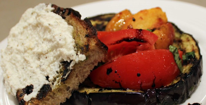 Grilled Eggplant with Spicy Tomato Salad