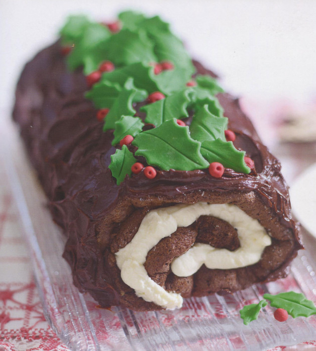 wc christmas yule log jpeg - Christmas Yule Log Cake