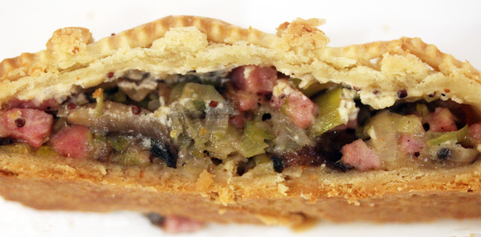 TBT Recipe: Smoked Ham, Leek, and Mushroom Pie