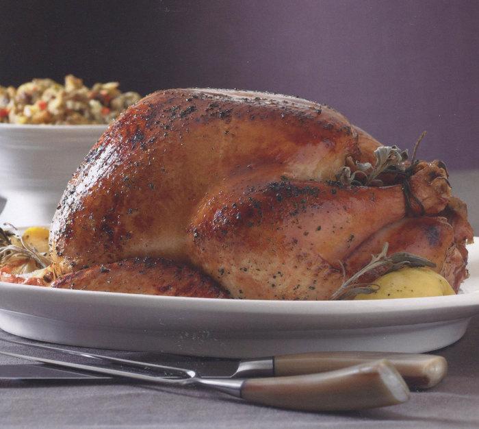 Maple-Glazed Roast Turkey with Applejack Giblet Gravy from Diane Morgan