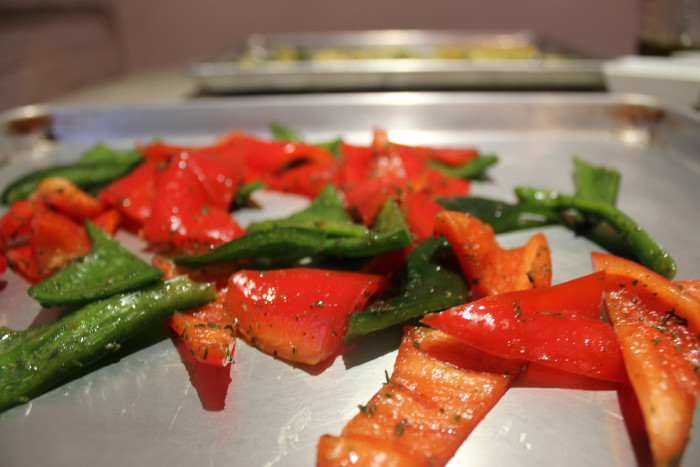 Quick Roasted Pepper Pieces
