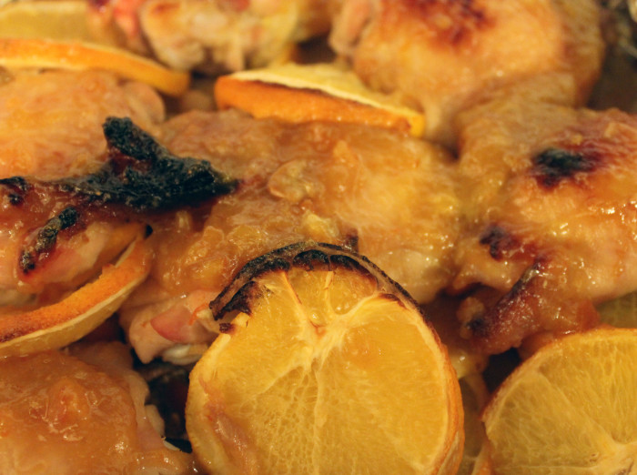 Bourbon and Marmalade-Glazed Drumsticks from A Bird in the Hand by Diana Henry