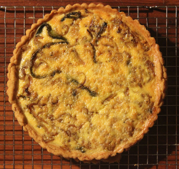 Curry Onion Tart from The Cardamom Trail by Chetna Makan