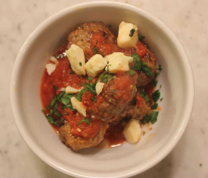 Chorizo Meatballs with Spicy Tomato Sauce from Graham Elliot