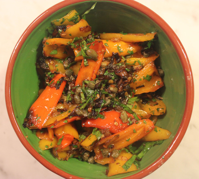 Sautéed Peppers with Capers from Alice Waters