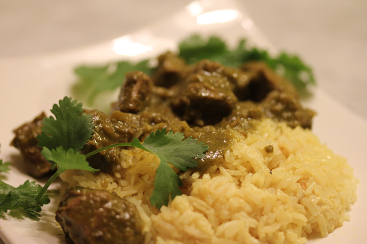 Green lamb curry from madhur jaffrey cooking by the book lamb curry forumfinder Gallery