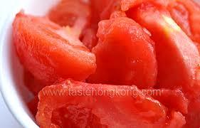 skinned tomatoes