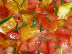 Orange, Tomato and Chive Salsa