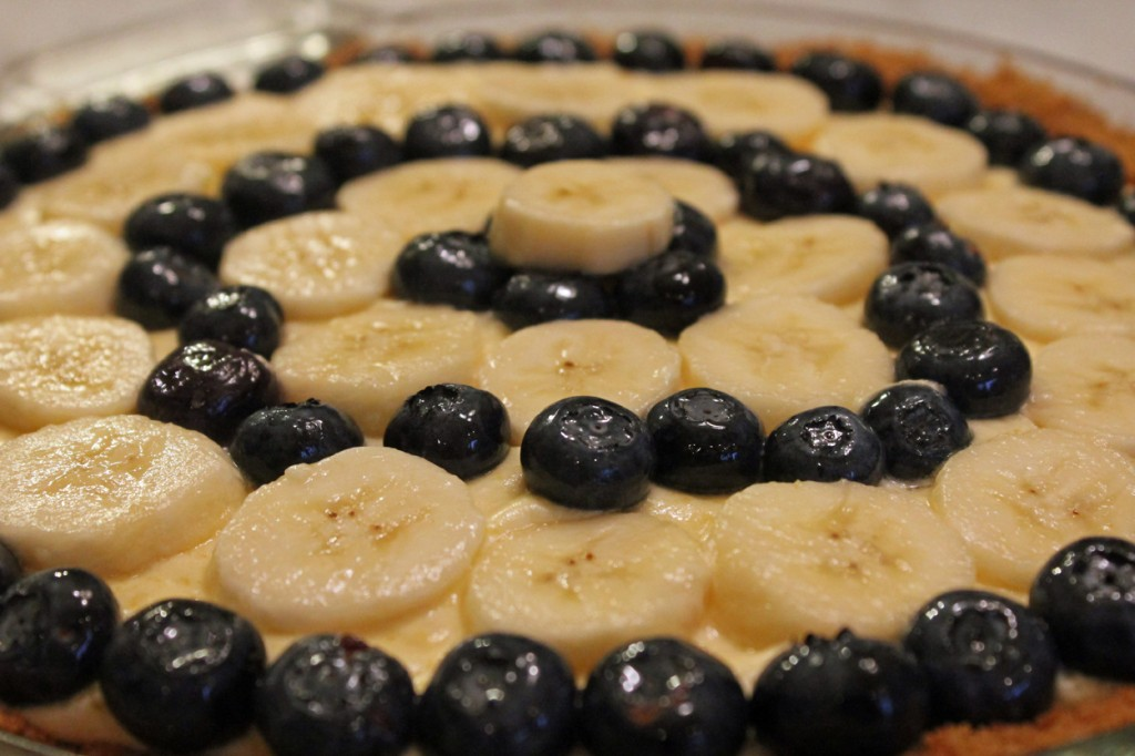 Dick Taeuber's Cordial Pie: A Banana and Blueberry Version