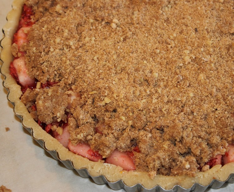 Pear Cranberry Pie with Walnut Crumb