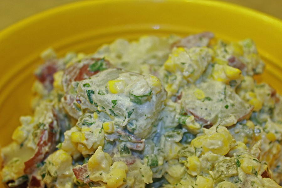 TBT Recipe: Grilled Corn and Poblano Potato Salad