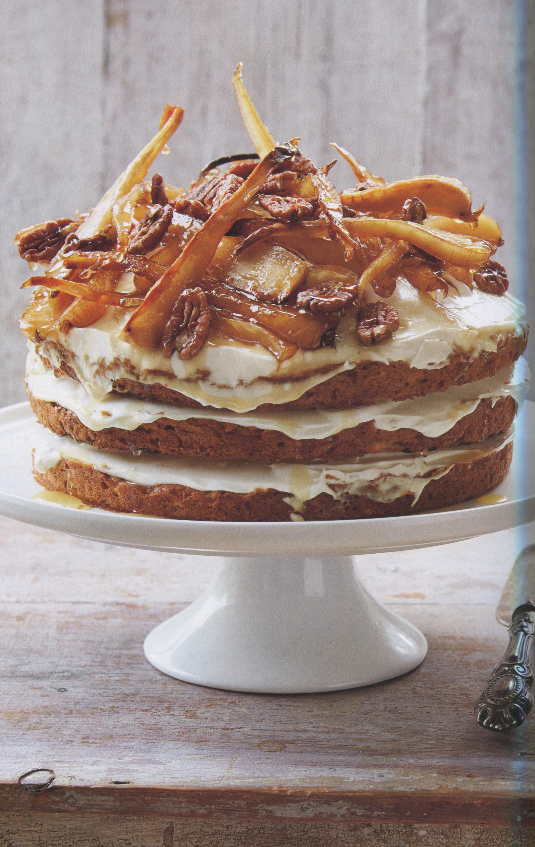 TBT Recipe: Cake of Parsnip, Apple, Pecan and Maple Syrup