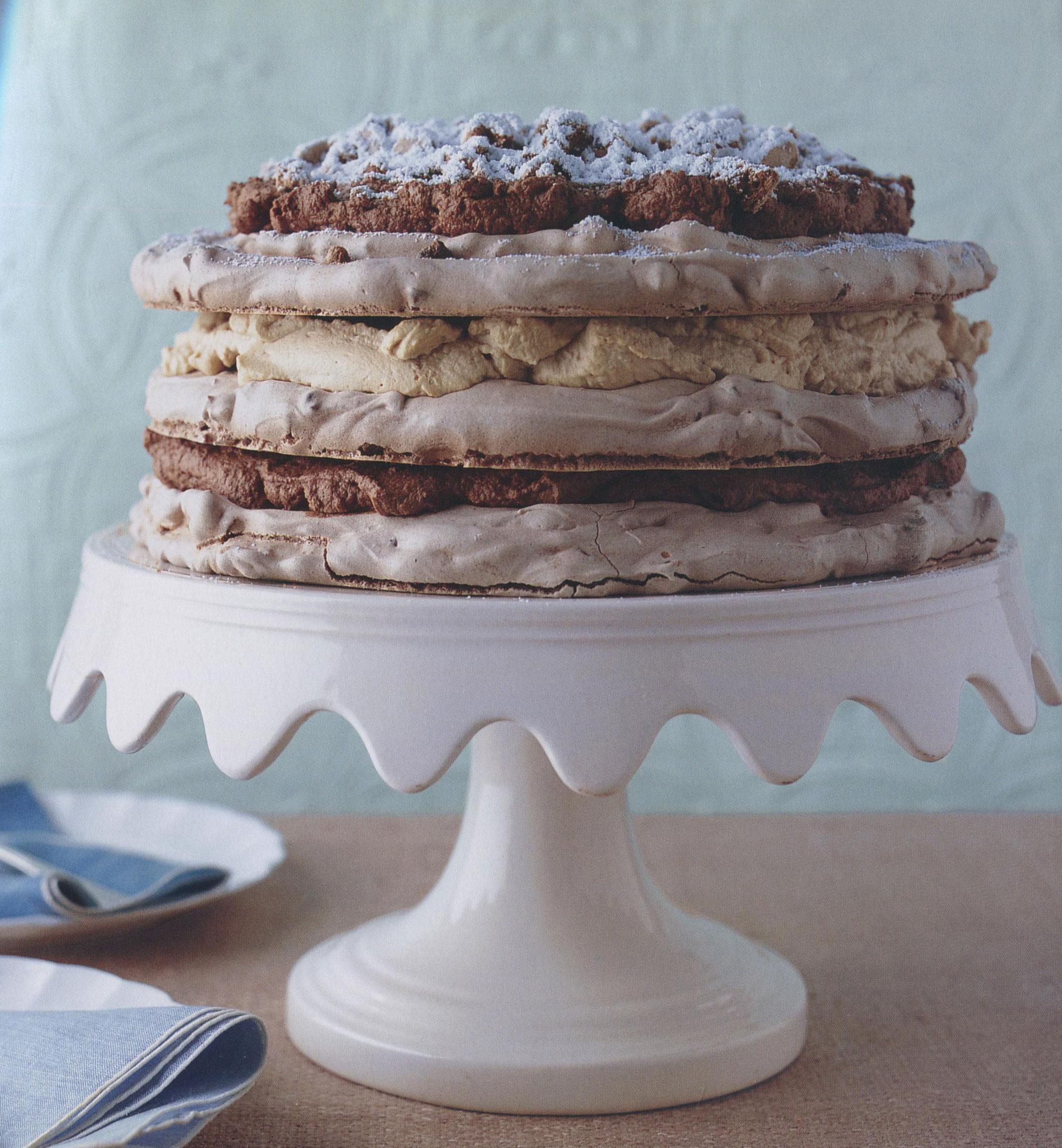 Mocha Chip Meringue Cake from Elinor Klivans