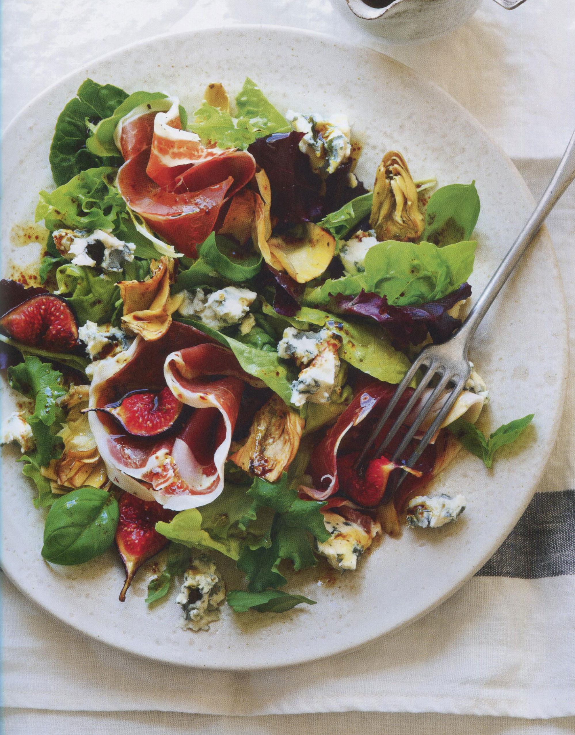 TBT Recipe: Prosciutto, Artichoke, Fig and Roquefort Salad with Balsamic Dressing