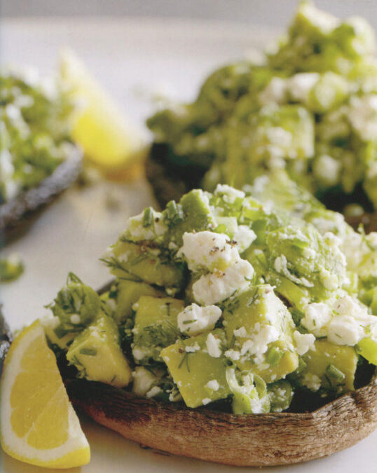 Balsamic Portobello Topped with Herbed Avocado Salad from Absolutely Avocado by Gaby Dalkin