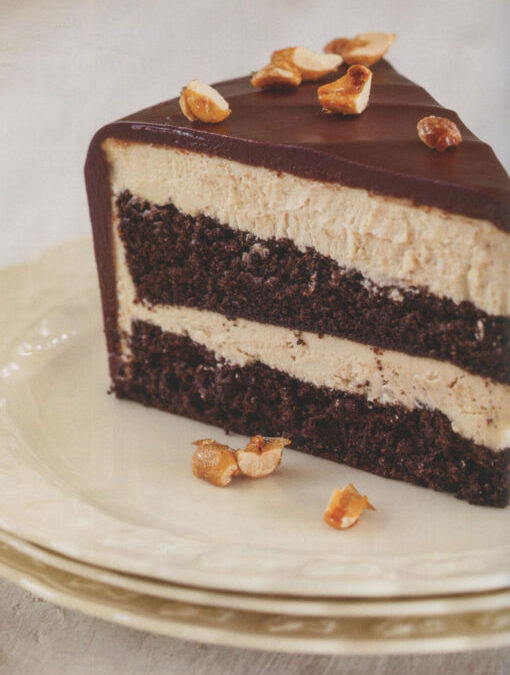 Chocolate-Glazed Peanut Butter Mousse Cake from Flavorful by Tish Boyle