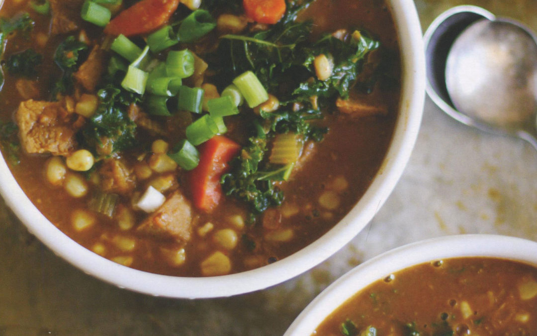 Smoked Paprika Chicken Corn Chowder from Let Them  Eat Kale! by Julia Mueller