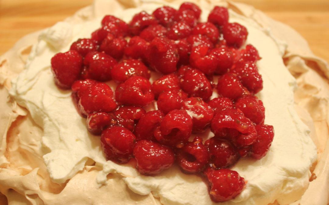 Hot Raspberry Pavlova