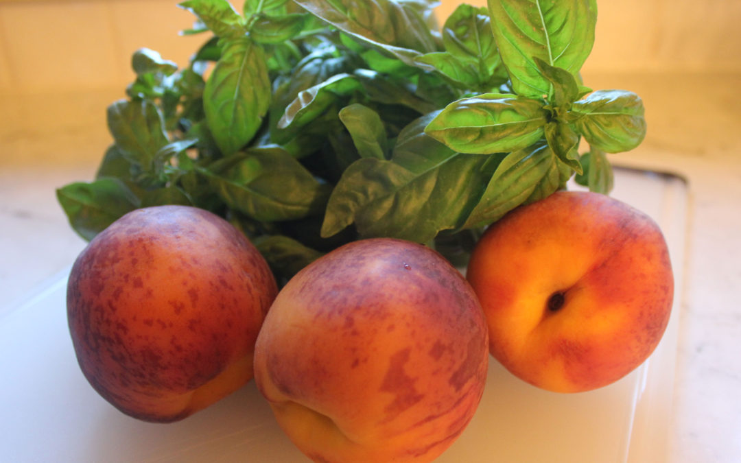Peach and Basil Agua Fresca