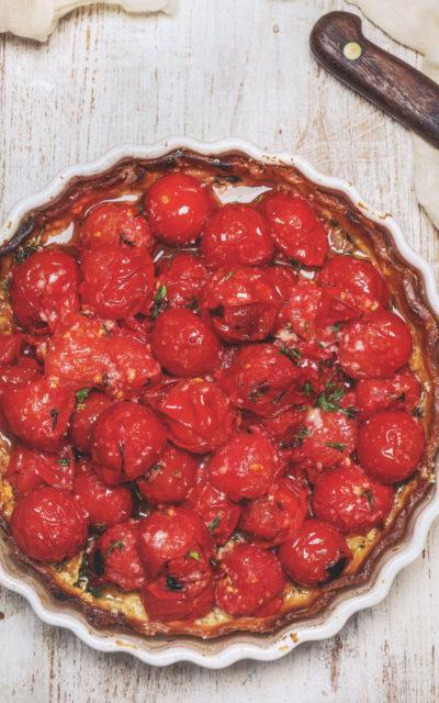 Cherry Tomato Tart from bring it! by Ali Rosen
