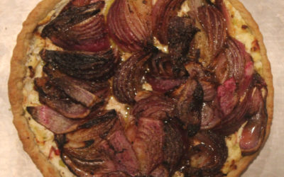 Red Onion Goat Cheese Galette from Onions Etcetera