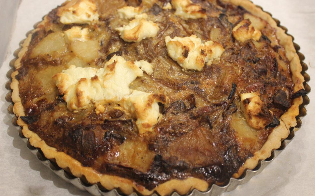 Goat Cheese, Scallion and Potato Tart from Darina Allen