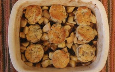 Apple-Cherry Cobbler with Pecan Biscuits