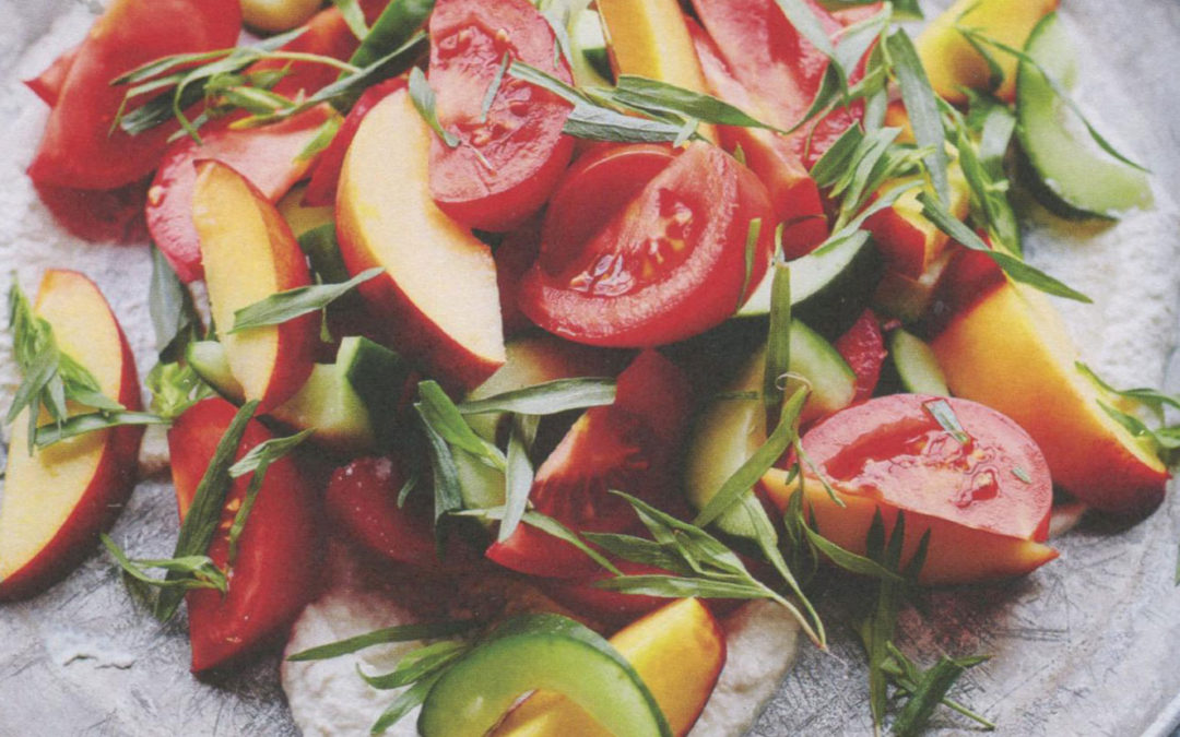 Tomato, Tarragon, Nectarine and Horseradish Salad