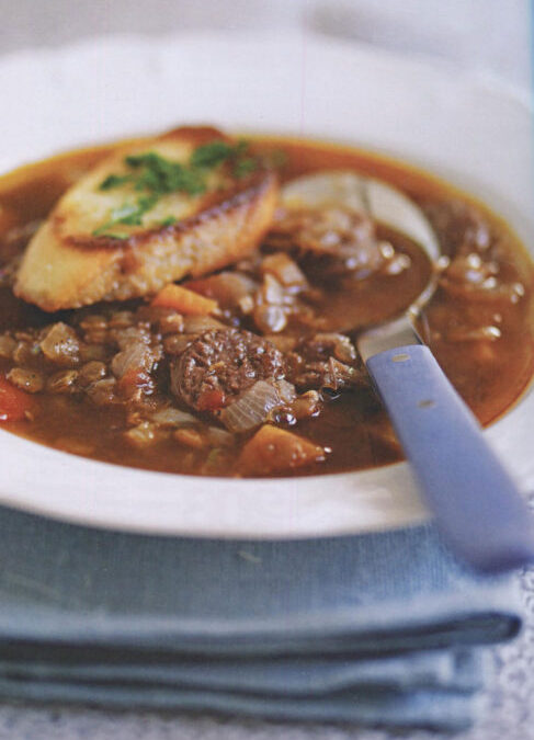Venison, Red Wine and Lentil Soup