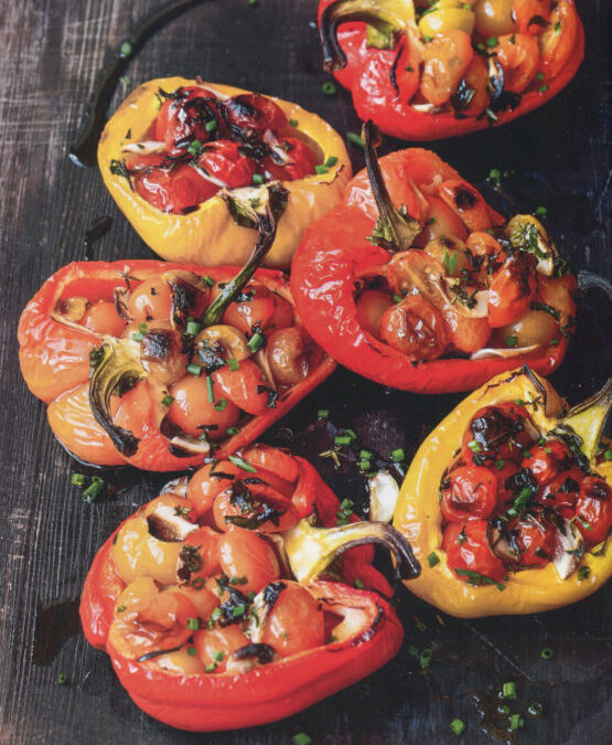 Oven-Charred Tomato-Stuffed Peppers from Everyday Dorie by Dorie Greenspan