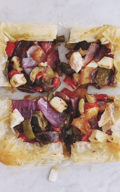 Filo Tart with Mediterranean Vegetables and Goat's Cheese from Michel Roux Cheese