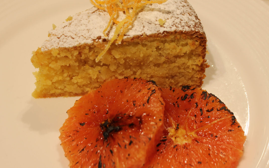 Lemon-Corneal Cakes with Torched Citrus Slices