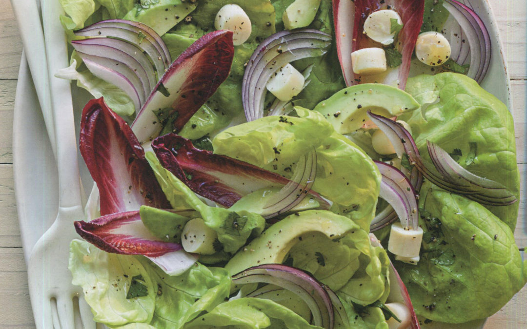 Mixed Greens with Hearts of Palm, Red Onion and Avocado from Rustic Mexican by Williams Sonoma