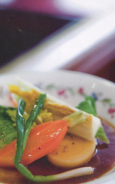 Country Style Vegetables Poached in Beef Broth and Seasoned with Aged Vinegar from Alain Ducasse