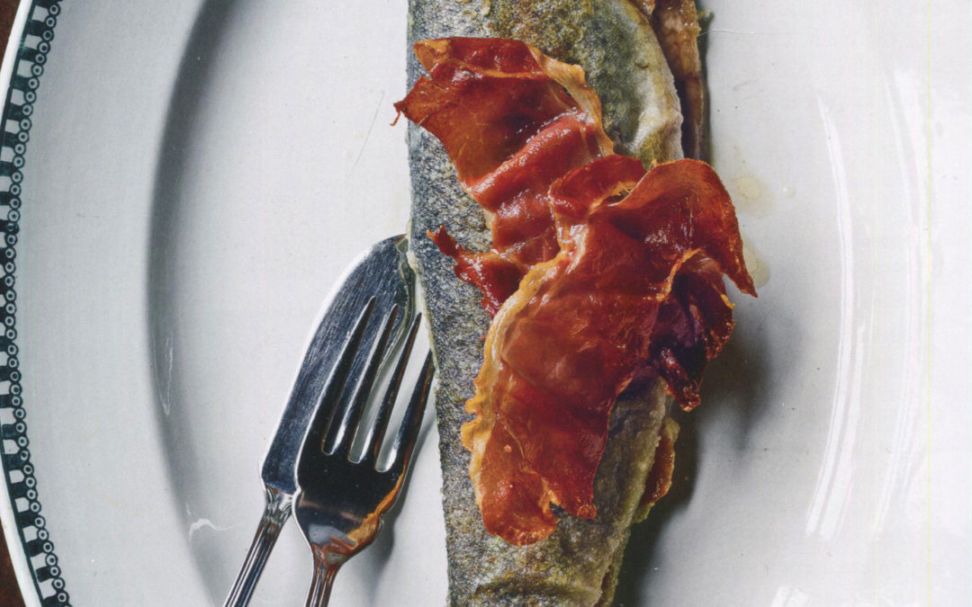 Navarre-Style Trout from Basque Country by Marti Buckley