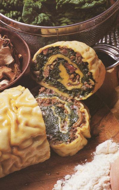 Rotolo Ripieno or Stuffed Pasta Roll from Emilia Romagna