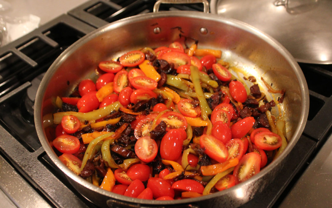 Tomato Pepper Stew from Basque Country by Marti Buckley