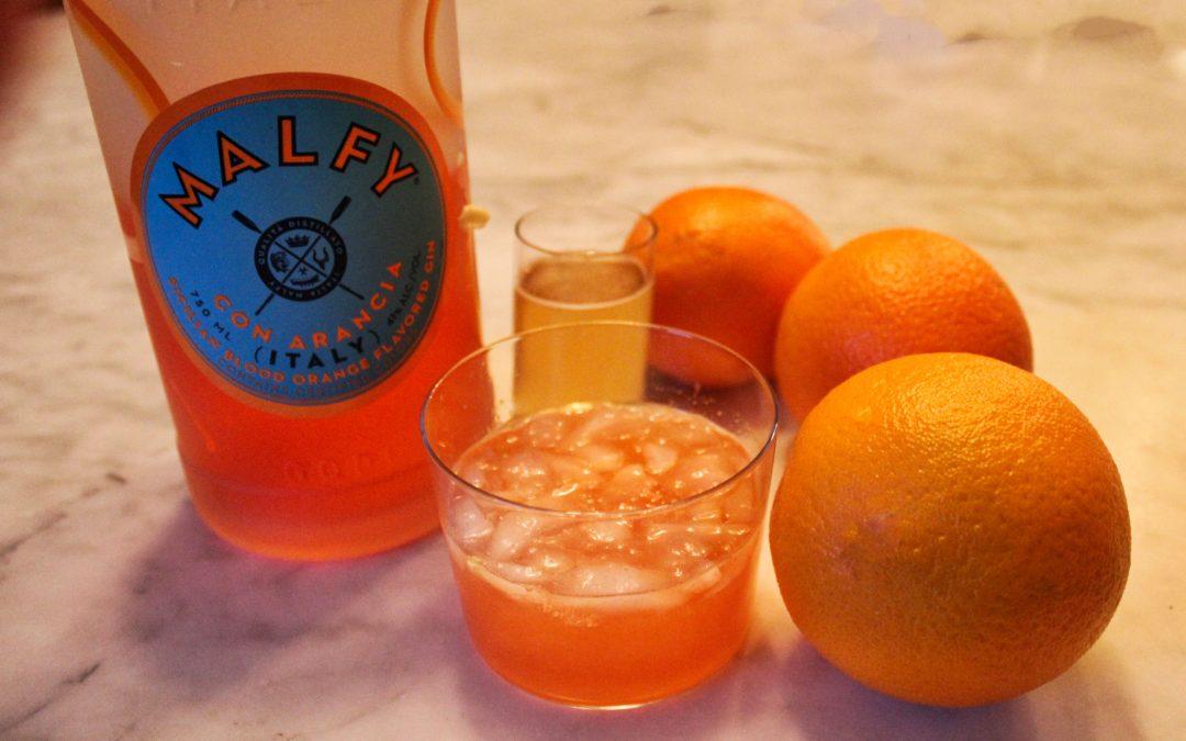 Malfry Citrus Splendor: A Blood Orange Gin Cocktail