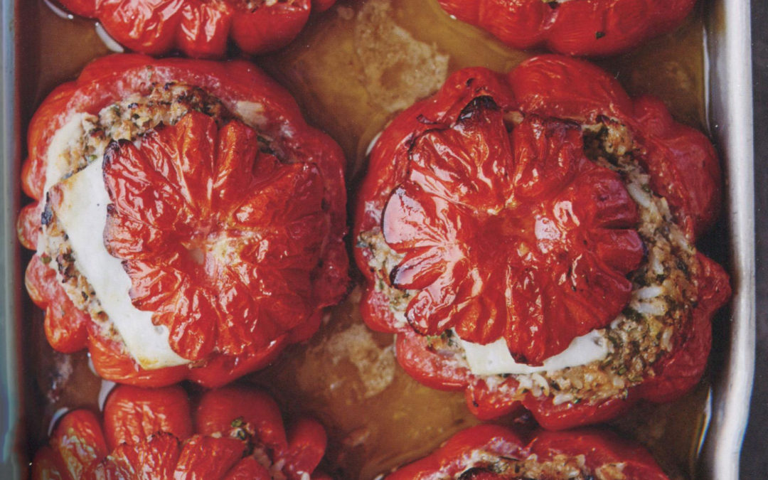 Baked Stuffed Tomatoes with Lamb and Summer Vegetables from Michel Roux