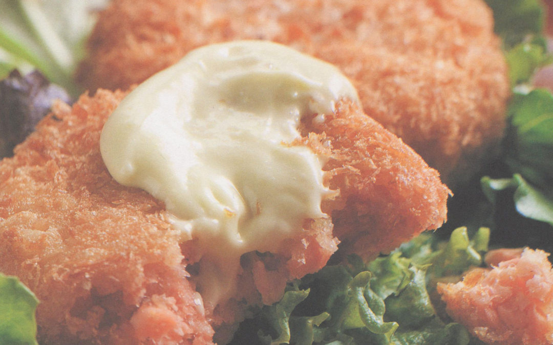 Salmon Cakes with Wasabi Mayonnaise